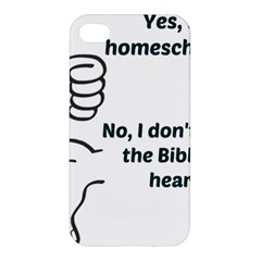 Bible No Apple Iphone 4/4s Hardshell Case by athenastemple