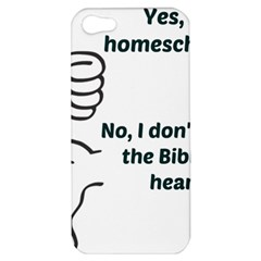 Bible No Apple Iphone 5 Hardshell Case by athenastemple