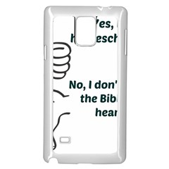 Bible No Samsung Galaxy Note 4 Case (white) by athenastemple