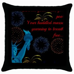 Huddledmasses Throw Pillow Case (black) by athenastemple