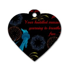 Huddledmasses Dog Tag Heart (two Sides) by athenastemple
