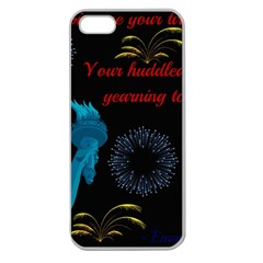 Huddledmasses Apple Seamless Iphone 5 Case (clear) by athenastemple