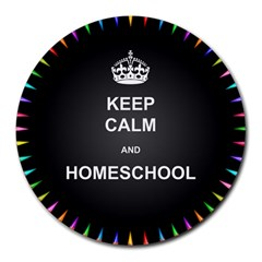 Keepcalmhomeschool Round Mousepads by athenastemple