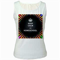 Keepcalmhomeschool Women s White Tank Top
