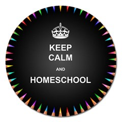 Keepcalmhomeschool Magnet 5  (round) by athenastemple