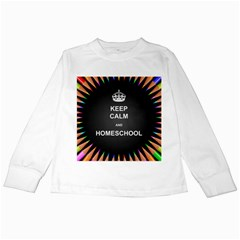Keepcalmhomeschool Kids Long Sleeve T Shirts by athenastemple