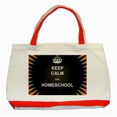 Keepcalmhomeschool Classic Tote Bag (red) by athenastemple
