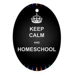 Keepcalmhomeschool Oval Ornament (two Sides) by athenastemple