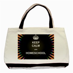 Keepcalmhomeschool Basic Tote Bag (two Sides) by athenastemple