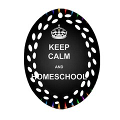 Keepcalmhomeschool Oval Filigree Ornament (two Sides) by athenastemple