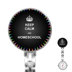 Keepcalmhomeschool Stainless Steel Nurses Watch by athenastemple