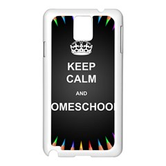Keepcalmhomeschool Samsung Galaxy Note 3 N9005 Case (white) by athenastemple