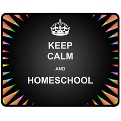 Keepcalmhomeschool Double Sided Fleece Blanket (medium)  by athenastemple