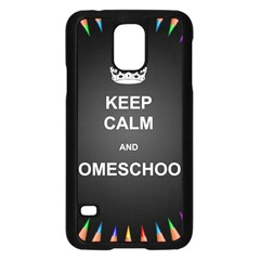 Keepcalmhomeschool Samsung Galaxy S5 Case (black) by athenastemple