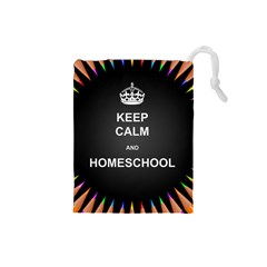 Keepcalmhomeschool Drawstring Pouches (small)  by athenastemple