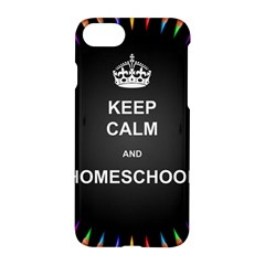 Keepcalmhomeschool Apple Iphone 7 Hardshell Case by athenastemple