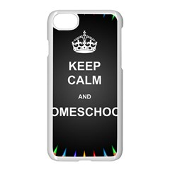 Keepcalmhomeschool Apple Iphone 7 Seamless Case (white) by athenastemple