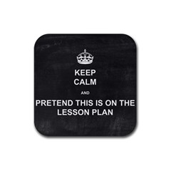 Lessonplan Rubber Square Coaster (4 Pack)