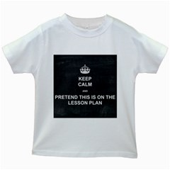 Lessonplan Kids White T Shirts by athenastemple