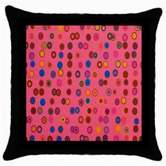 Circles Abstract Circle Colors Throw Pillow Case (black) by Nexatart