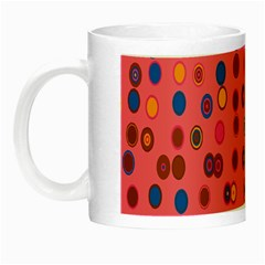 Circles Abstract Circle Colors Night Luminous Mugs by Nexatart