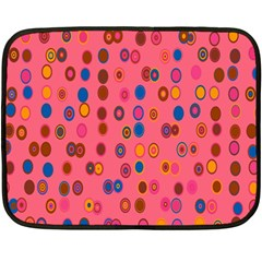Circles Abstract Circle Colors Fleece Blanket (mini) by Nexatart