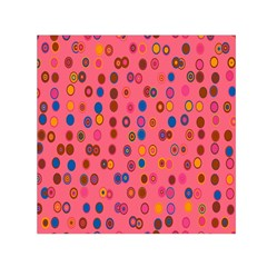 Circles Abstract Circle Colors Small Satin Scarf (square) by Nexatart
