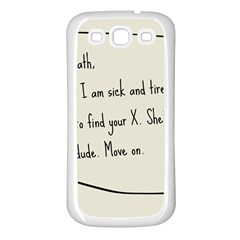 Mathx Samsung Galaxy S3 Back Case (white) by athenastemple