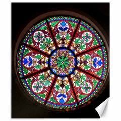 Church Window Window Rosette Canvas 20  X 24   by Nexatart