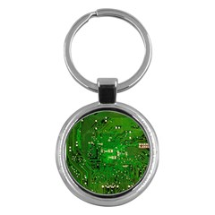 Circuit Board Key Chains (round)  by Nexatart