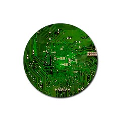 Circuit Board Rubber Round Coaster (4 Pack)