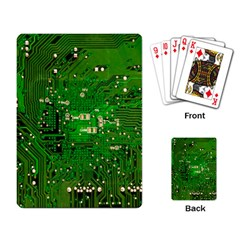 Circuit Board Playing Card by Nexatart