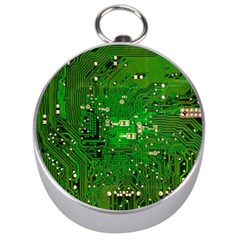 Circuit Board Silver Compasses by Nexatart