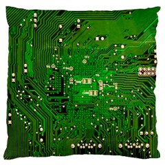 Circuit Board Standard Flano Cushion Case (one Side) by Nexatart