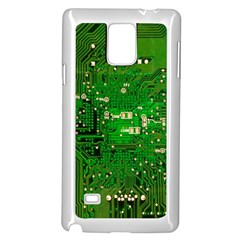 Circuit Board Samsung Galaxy Note 4 Case (white) by Nexatart
