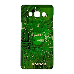 Circuit Board Samsung Galaxy A5 Hardshell Case  by Nexatart