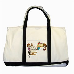 Mom Two Tone Tote Bag by athenastemple