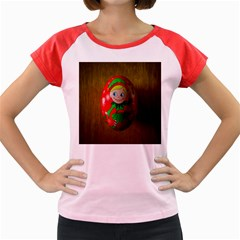 Christmas Wreath Ball Decoration Women s Cap Sleeve T Shirt by Nexatart