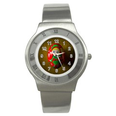 Christmas Wreath Ball Decoration Stainless Steel Watch