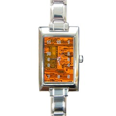 Circuit Rectangle Italian Charm Watch by Nexatart