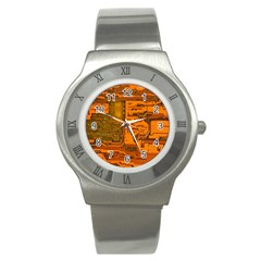 Circuit Stainless Steel Watch