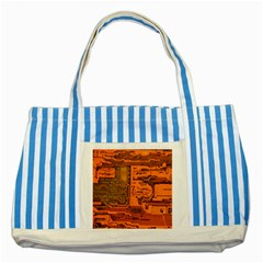 Circuit Striped Blue Tote Bag