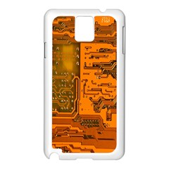 Circuit Samsung Galaxy Note 3 N9005 Case (white) by Nexatart