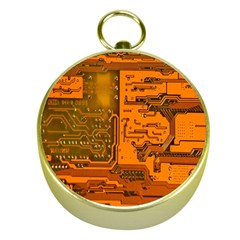 Circuit Gold Compasses