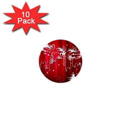 City Nicholas Reindeer View 1  Mini Buttons (10 Pack)