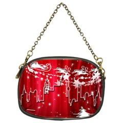 City Nicholas Reindeer View Chain Purses (two Sides)  by Nexatart