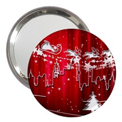 City Nicholas Reindeer View 3  Handbag Mirrors