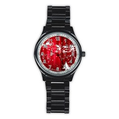 City Nicholas Reindeer View Stainless Steel Round Watch