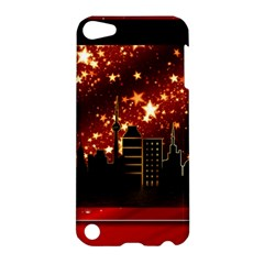 City Silhouette Christmas Star Apple Ipod Touch 5 Hardshell Case by Nexatart