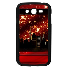 City Silhouette Christmas Star Samsung Galaxy Grand Duos I9082 Case (black) by Nexatart